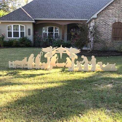 Nativity Set Whole Set Yard Art 1 2 Birch Christmas