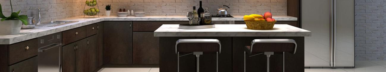 Kitchen Cabinets, countertops, faucets, sinks, and islands