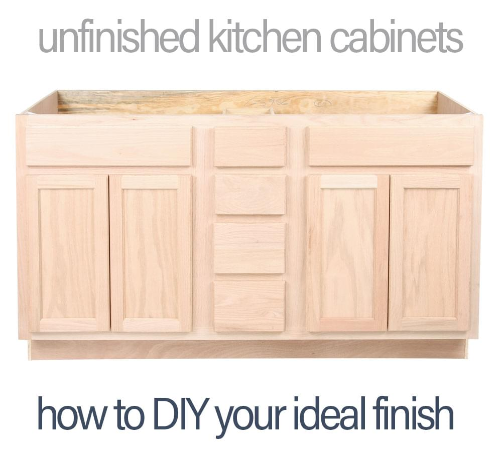 unfinished kitchen cabinet boxes unfinished kitchen cabinets how to diy and save money 27635