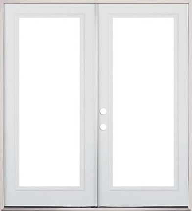 Clearview french metal exterior door prehung doors for Double hung french patio doors