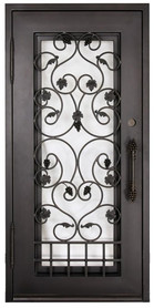 "3'0""x6'8"" Wine Room Wrought Iron Door"