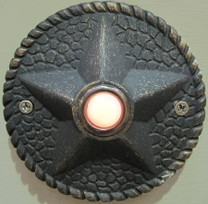 Decorative Iron Lighted Door Bell Button - Star detail