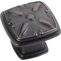 """1093DBAC Milan 1-3/16"""" Square Cabinet Knob - Brushed Oil Rubbed Bronze"""
