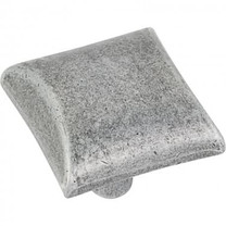 525SIM Glendale 8/32 Square Cabinet Knob - Distressed Antique Silver