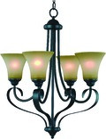 4 Light Palermo Large Chandelier, Classic Bronze