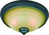2 Light Palermo Flush Mount Ceiling Light, Classic Bronze