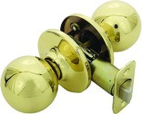 Helena Knob Passage Door Handle, Polished Brass
