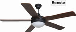 "Riverchase 52"" Dual Mount Ceiling Fan, Oil Rubbed Bronze"