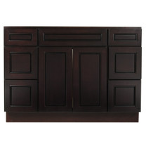 Espresso Contempo Wood Vanity Sink and 6 Drawer Base | 48""