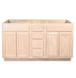 kitchen sink base unfinished oak 48 kitchen cabinets unfinished surplus building. Black Bedroom Furniture Sets. Home Design Ideas