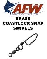 Swivels - AFW Brass Coastlock Snap Swivels
