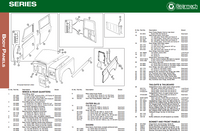 Land Rover Series II/IIA/III Body & Exterior Parts Exploded View Diagram
