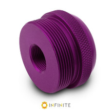 1/2-28 to D Cell Maglite Adapter - Purple