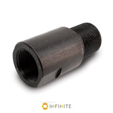 1/2-28 RH to .578-28 RH Thread Adapter - Black (Steel)