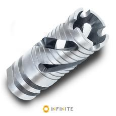 1/2-28 Spiral Phantom Muzzle Brake - Stainless Steel
