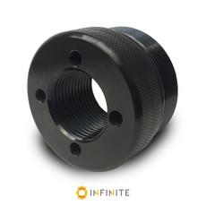 i4003 Flat End Cap - Black Anodized Aluminum
