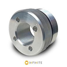 i4003 Flat End Cap - Shiny Aluminum