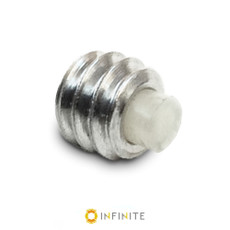 1/4-20 Aluminum Delrin Tipped Set Screw Replacement