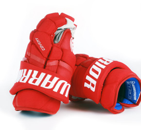 "13"" Warrior Covert QRL Pro Gloves - Team Stock Carolina Hurricanes"
