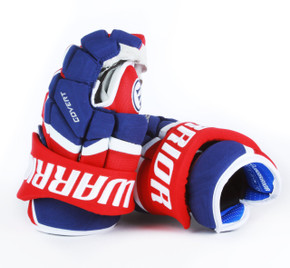 "13"" Warrior Covert QRL Pro Gloves - Team Stock Montreal Canadiens"
