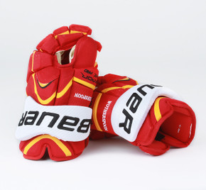 """15"""" Bauer Vapor APX Pro Gloves - Tyler Wotherspoon Calgary Flames"""