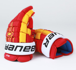 "15"" Bauer Nexus 1000 Gloves - Brandon Bollig Calgary Flames #4"