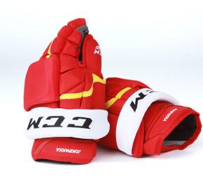 "14"" CCM HG12XP Gloves - Jyrki Jokipakka Calgary Flames"
