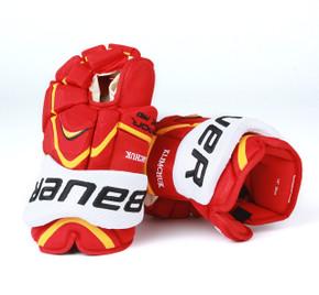 """14"""" Bauer Vapor APX Pro Gloves - Morgan Klimchuck Calgary Flames"""