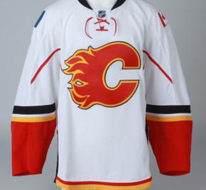 Game Jersey - Calgary Flames - White Reebok Size 58