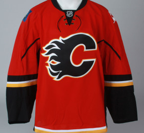 Game Jersey - Calgary Flames - Red Reebok Size 58
