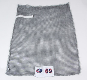 Columbus Blue Jackets Gray Laundry Bag - Various Numbers