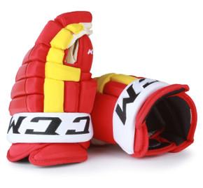 "14"" CCM HG97XP Gloves - Team Stock Calgary Flames #2"