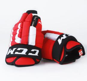 """14"""" CCM HGSTJR Gloves - P.A. Parenteau New Jersey Devils"""