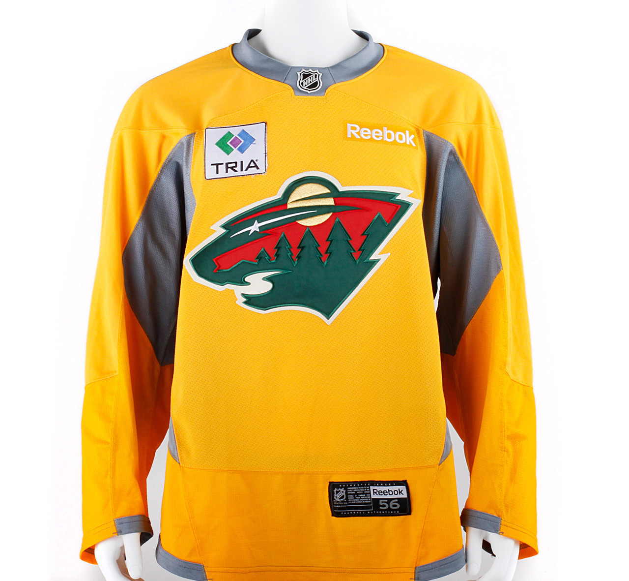 ... closeout practice jersey minnesota wild yellow reebok size 56. home  jerseys socks hockey practice jerseys 83ee461ce