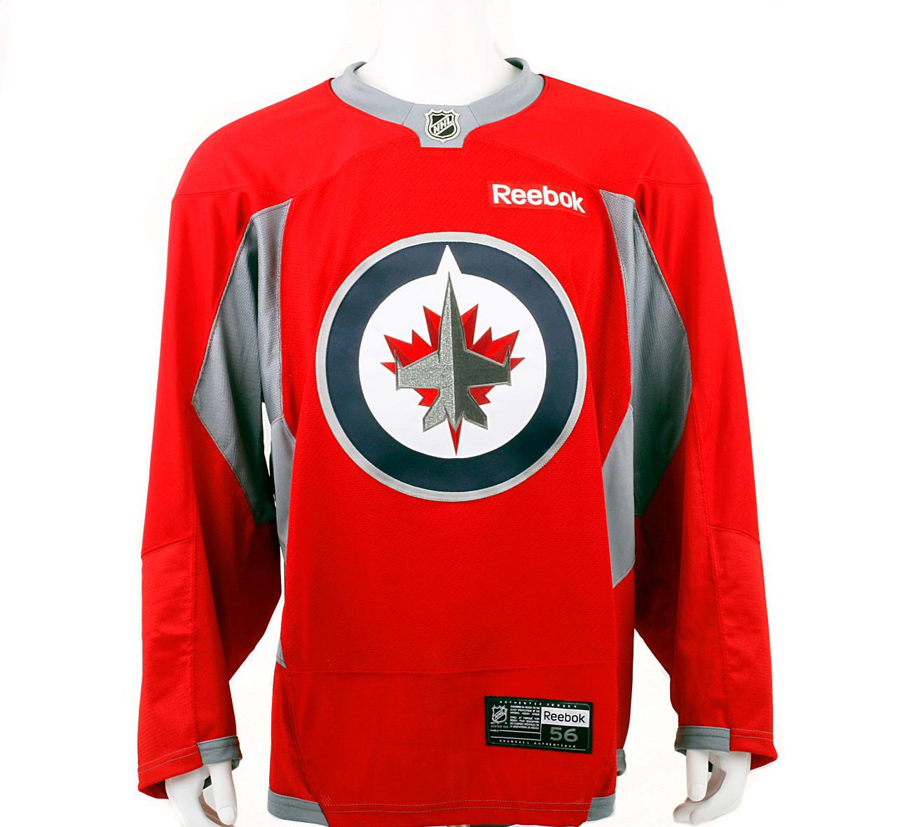 ed73b13ecd6 ... promo code for practice jersey winnipeg jets red reebok size 56 pro  stock hockey 39613 a6b79