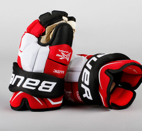 "15"" Bauer Vapor 1X  Gloves - Luke Gazdic New Jersey Devils"