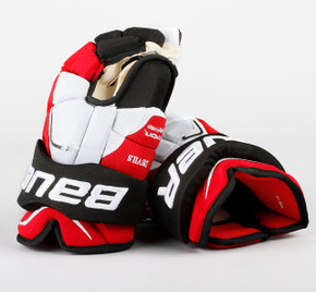 "15"" Bauer Vapor APX2 Gloves - Team Stock New Jersey Devils"