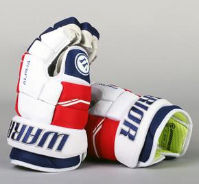 "13"" Warrior Alpha QX Gloves - Team Stock New York Rangers"