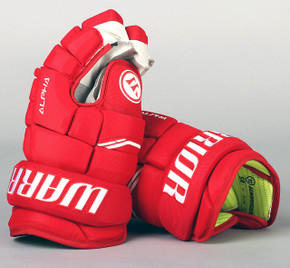 "13"" Warrior Alpha QX Gloves - Team Stock Detroit Red Wings"