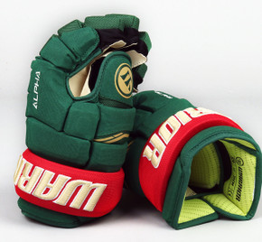 "13"" Warrior Alpha QX Gloves - Team Stock Minnesota Wild"