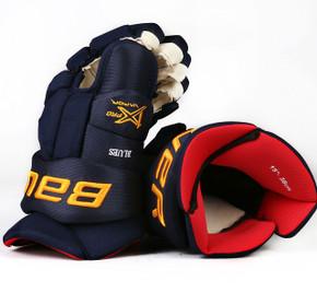 """15"""" Bauer Vapor 1X  Pro Gloves - Team Stock St. Louis Blues"""