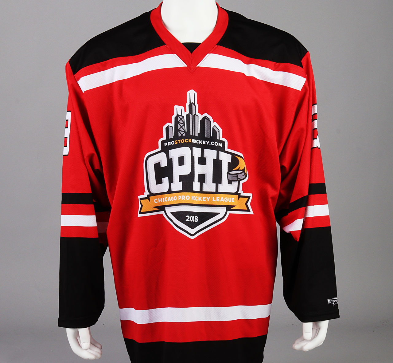 Large Red Chicago Pro Hockey League Jersey - Spencer Stastney - Pro ... a8027f82302