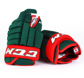 """14"""" CCM HGSTJR Gloves - Stu Bickel Minnesota Wild"""