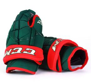 """14"""" CCM HG12 Gloves - Team Stock Minnesota Wild"""