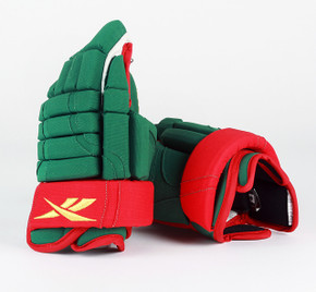 "14"" Reebok HGSTJR Gloves - Team Stock Minnesota Wild"