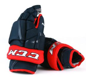 "15"" CCM HG12PP Gloves - Team Stock Columbus Blue Jackets"