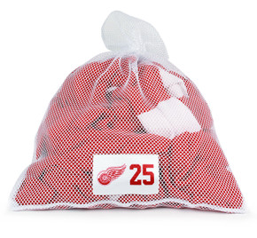 Detroit Red Wings White Laundry Bag - Mike Green
