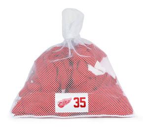 Detroit Red Wings White Laundry Bag - Jimmy Howard