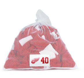 Detroit Red Wings White Laundry Bag - Henrik Zetterberg