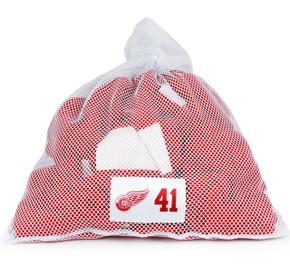 Detroit Red Wings White Laundry Bag - Luke Glendening